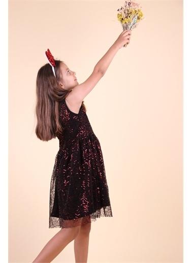 Breeze Kız Çocuk Pullu Elbise Kırmızı  Kırmızı